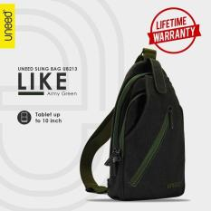Harga Uneed Like Tas Selempang Pria Universal Tas Sling Bag For Tablet 7 Inch Water Resistant Ub213 Army Green Branded
