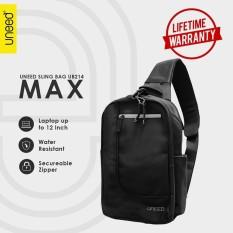 Uneed Max Tas Selempang Pria / Tas Sling Bag for Laptop 12 inch - Water Resistant UB214 - Hitam