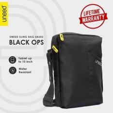 Jual Uneed Black Ops Tas Selempang Pria Universal Tas Sling Bag For Tablet 10Inch Water Resistant Ub202 Hitam