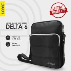 Uneed Delta 6 Tas Selempang Pria / Tas Sling Bag for Tablet 10inch - Water Resistant UB204 - Hitam