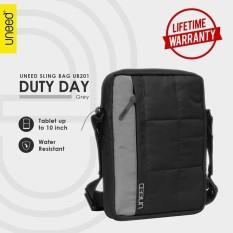 Toko Uneed Duty Day Tas Selempang Pria Universal Tas Sling Bag Pria For Tablet 10Inch Water Resistant Ub201 Grey Di Dki Jakarta
