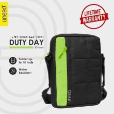 Spesifikasi Uneed Duty Day Tas Selempang Pria Universal Tas Sling Bag Pria For Tablet 10Inch Water Resistant Ub201 Hijau Lengkap