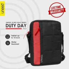 Review Uneed Duty Day Tas Selempang Pria Universal Tas Sling Bag Pria For Tablet 10Inch Water Resistant Ub201 Merah