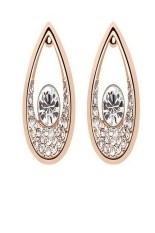 Unica 21 - Angel Tear Drop Stud Earring - Gold