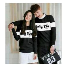 UC Kaos Couple Only U / Tshirt Polos  / Sweater Couple Only You / Sweater Polos / Kaos Pria Wanita 2L - HITAM D3C