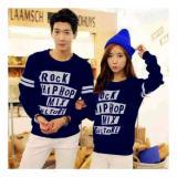 Jual Uc Kaos Couple Rock Kaos Oblong Sweater Couple Hip Hop T Shirt Pasangan Pakaian Kembar Kaos Pria Wanita 2L Navy D3C Indonesia Murah