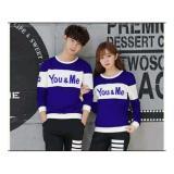 Jual Uc Kaos Couple You Me Tshirt Polos Sweater Couple You Me Sweater Polos Kaos Pria Wanita 2L Biru Tua D3C Antik
