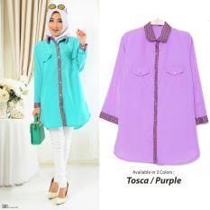 Baju Wanita DE Kebaya Kutu Baru Modern Ayday/ Tunik Kemeja / Kebaya Modern Wanita Gamis Ayda / Batik Modern 7T - Tosca D3C