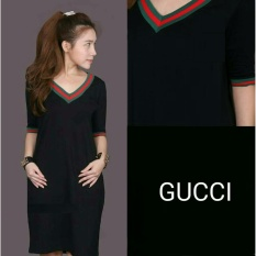 Spesifikasi Lf Mini Dress Wanita G Cool Atasan Kaos Terusan Blouse Santai Kasual Kaos T Shirt Wanita Nr Hitam D2C Merk Ladies Fashion