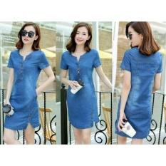Baju Wanita Shop Dress Tika / Gaun Wanita / Dress Woman / New Midi Dress / Japanese Dress / Dress  China Stylist NR - Denim