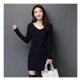 Uc Dress Luisa Gaun Wanita Terbaru Dress Vivi Poket Bahan Rajut Stret Fit To L Nr Navy Promo Beli 1 Gratis 1