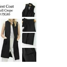 UC Rompi Cardigan Long Vest Coat / Cardingan / Rompi Warnita / Carding Girl / Carding Bagus NR - Hitam