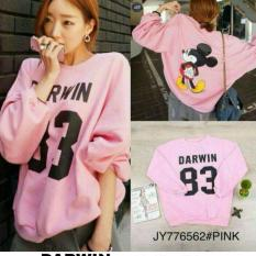 Uc Sweater Cewek Sweater Hangat Darwin Sweater Import An Pink Original