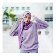 Toko Uc Sweater Wanita Lengan Panjang Hughes Baju Tebal Sweater Thumb Hand Kaos Sweater Thumbhand Baju Hangat Jaket Wanita Etnik Nr Lavender A0165 D2C Lengkap