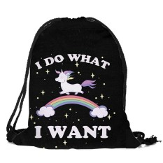 Unicorn Candy Bag Satchel Rucksack Bundle Tas Ransel Tas Penyimpanan-Intl