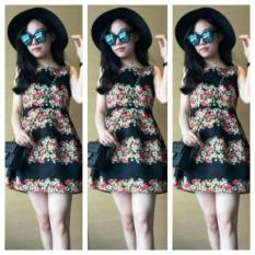 Unik Baju Dress Atasan Wanita Dress Terusan Gaun Flower Top Cewek B19 Limited