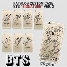Unik Custom Case Bts Korean Hp Handphone Iphone Samsung Zenfone Lg A158 Murah Multi Diskon 40