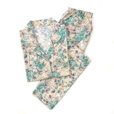 Unik Piyama Mewah Cream Mint Forest Cotton Baju Tidur Wanita Cewek PK62 Limited