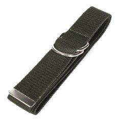 Beli Barang Unisex Buckle Waist Belt Mens Boys Plain Webbing Waistband Casual Canvas Belt Dark Green Intl Online
