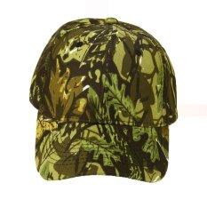 Jual Unisex Kamuflase Wild Hiking Army Camo Cap Taktis Bisbol Cap Hijau Intl Lengkap
