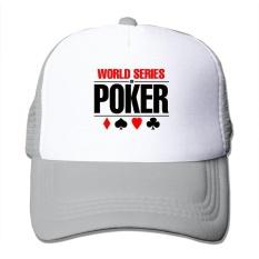 Uniseks Tutup Hitam Dunia Seri dari Poker Tab WSOP Las Vegas Baseball Topi Baseball-Internasional