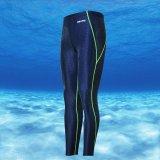 Beli Unisex Imitasi Sharkskin Neoprene Wetsuit Berenang Snorkeling Menyelam Celana Biru Green Line Intl Cicil