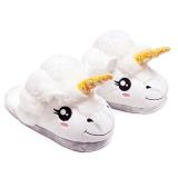 Toko Unisex Kartun Unicorn Musim Dingin Indoor Anti Slip Plush Sandal Lembut Hangat Plush Rata Rata Ukuran Sandal Untuk Uni Eropa 36 41 Terdekat