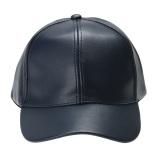 Harga Topi Dapat Disesuaikan Olahraga Outdoor Topi Bisbol Kulit Unisex Biru Navy Intl Vakind Baru