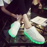 Beli Unisex Led Light Renda Pancaran Sepatu Olahraga Sneaker Kasual Sepatu Putih Bercahaya Intl Cicilan
