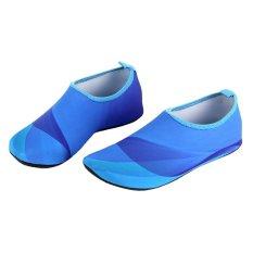 Spesifikasi Unisex Ringan Aqua Beach Sepatu Air Olahraga Sepatu Pria Biru Intl