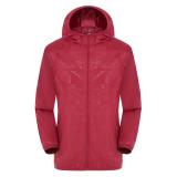 Spesifikasi Adapula Ringan Tahan Air Luar Ruangan Berkerudung Jaket Kulit Perlindungan Sinar Uv Merah Bagus