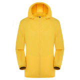 Diskon Unisex Ringan Outdoor Waterproof Hooded Uv Perlindungan Kulit Jacketi¼ˆYellowi¼‰ Oem Tiongkok