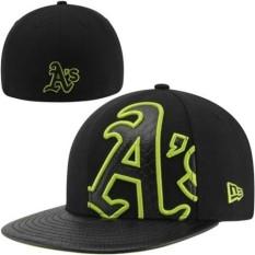 Unisex Resmi Oakland Athletics Baseball Caps MLB Pria Wanita Snapback Topi Olahraga Topi Cap Beat-Boy (Hitam) -Intl