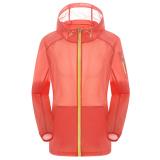 Harga Unisex Outdoor Uv Bukti Kulit Jaket Bertudung Ringan Water Repellent Orange Lengkap