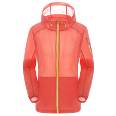 Unisex Outdoor Uv Bukti Kulit Jaket Bertudung Ringan Water Repellent Orange Original