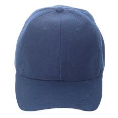 Polos Unisex Topi Olahraga Bisbol Kosong Visor Melengkung (Biru Tua)-Intl c433b6e42a