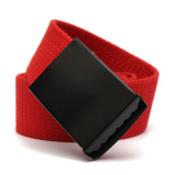 Harga Anyaman Polos Unisex Pria Wanita Kasual Tali Pinggang Ikat Pinggang Kanvas Merah Intl Terbaru