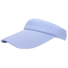 Adapula padat olahraga tenis dataran pantai sun visor cap hat dapat disesuaikan dan langit biru (