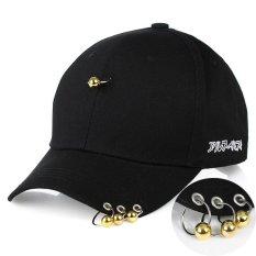 Jual Unisex South Korea Gd G Dragon Bingbang Cap Man Hoop Hip Hop Hat Peaked Black Gold Intl Murah