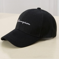 Unisex Sport Baseball Cap Juara Cotton Kapas Adjustable Hitam-Intl