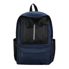 Remaja Unisex Perjalanan Tas Santai untuk Notebook Laptop Backpack (Biru)-Intl