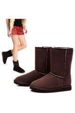 Unisex Winter Warm Snow Half Boots Shoes 6 Colors (Coffee) - intl