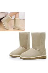 Jual Unisex Winter Warm Snow Setengah Boots Sepatu 6 Warna Putih Online