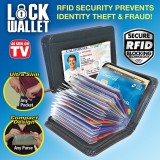 Beli Universal Lock Wallet Secure Rfid Blocking Credit Card Purse Dompet Kartu Kredit Black Terbaru