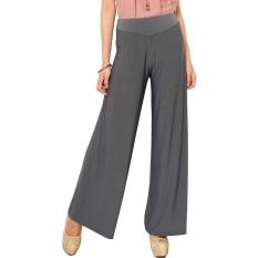 Situs Review Universal Long Culotte Pants Celana Kulot Jersey Abu Abu