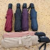 Harga Universal Payung Lipat Portabel Warna Solid Black Seken