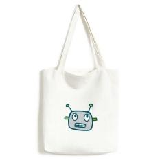 Universe dan Alien Gray Robot Kanvas Tas Lingkungan Tote Besar Hadiah Kapasitas Shopping Bags-Intl