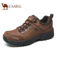 Promo Camel Pria Kulit Sapi Sepatu Hiking Antislip Penyerapan Keringat Sepatu Luar Ruangan Kopi Di Tiongkok