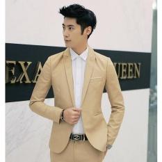 Toko Up Fashion Casual Suit Jacket Lengan Yang Longgar Khaki Intl Lengkap Tiongkok