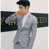 Harga Up Fashion Casual Suit Jacket Lengan Yang Longgar Abu Abu Muda Internasional Origin
